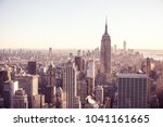 new york city   usa. view to... | Shutterstock . vector #1041161665