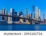 lower manhattan downtown... | Shutterstock . vector #1041161716