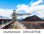 coal stacker and coal reclaimer ... | Shutterstock . vector #1041167518