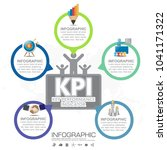 infographic kpi concept with... | Shutterstock .eps vector #1041171322