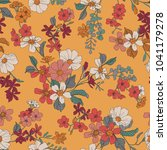 seamless floral pattern in... | Shutterstock .eps vector #1041179278
