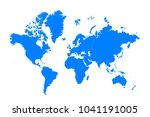 blue map of continents | Shutterstock .eps vector #1041191005