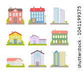 collection of vector flat... | Shutterstock .eps vector #1041199375