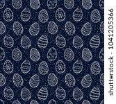 easter eggs pattern. spring... | Shutterstock . vector #1041205366