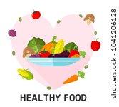 illustration flat vegetable on...   Shutterstock .eps vector #1041206128