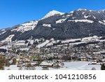 kitzb hel in tyrol  austria in... | Shutterstock . vector #1041210856