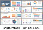 presentation template design.... | Shutterstock .eps vector #1041211528