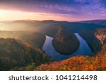 panoramic view of river canyon... | Shutterstock . vector #1041214498