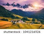 imressive dolomites mountains... | Shutterstock . vector #1041216526