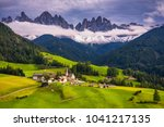 famous best alpine place of the ...   Shutterstock . vector #1041217135