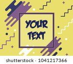 yellow purple abstract... | Shutterstock .eps vector #1041217366