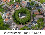 aerial view of beautiful dutch... | Shutterstock . vector #1041226645