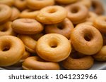 the many donuts. donuts dough... | Shutterstock . vector #1041232966