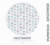 public transport concept in... | Shutterstock .eps vector #1041244018