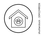 pet house icon   Shutterstock .eps vector #1041248026