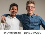 friendship between teenagers | Shutterstock . vector #1041249292