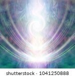 beautiful spiralling vortex... | Shutterstock . vector #1041250888