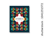 ethnic style original  colorful ...   Shutterstock .eps vector #1041251572