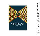 abstrat style ethnic design...   Shutterstock .eps vector #1041251575