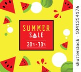 colorful watermelon 30 to 70... | Shutterstock .eps vector #1041254176
