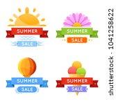 bright summer discount banners  ... | Shutterstock .eps vector #1041258622
