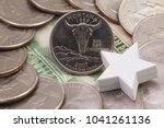 a quarter of montana  quarters... | Shutterstock . vector #1041261136