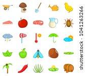 steading icons set. cartoon set ... | Shutterstock . vector #1041263266