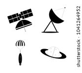 icon cosmos with satellite...   Shutterstock .eps vector #1041264952