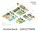 set of isolated isometric... | Shutterstock .eps vector #1041275848