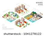 set of isolated isometric... | Shutterstock .eps vector #1041278122