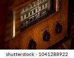 old  vintage antique stand up...   Shutterstock . vector #1041288922
