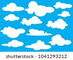 collection of cloud icon  shape ... | Shutterstock .eps vector #1041293212