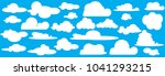 collection of cloud icon  shape ... | Shutterstock .eps vector #1041293215