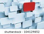 many blank speech bubbles...   Shutterstock . vector #104129852