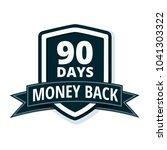 90 days money back shield... | Shutterstock .eps vector #1041303322