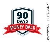 90 days money back shield... | Shutterstock .eps vector #1041303325