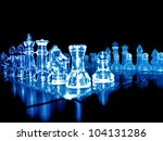 Close Up Shot Of Glass Chess...