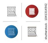 eye exam chart icon. flat... | Shutterstock .eps vector #1041314542