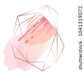 pink and rose brush strokes and ... | Shutterstock .eps vector #1041319072