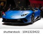 geneva  switzerland   march 6 ... | Shutterstock . vector #1041323422