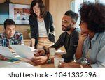 group of young business people... | Shutterstock . vector #1041332596