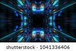 abstract futuristic sci fi warp ... | Shutterstock . vector #1041336406