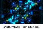 abstract futuristic sci fi warp ...   Shutterstock . vector #1041336508