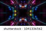 abstract futuristic sci fi warp ... | Shutterstock . vector #1041336562
