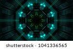 abstract futuristic sci fi warp ...   Shutterstock . vector #1041336565