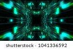 abstract futuristic sci fi warp ...   Shutterstock . vector #1041336592