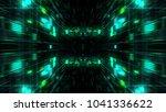 abstract futuristic sci fi warp ... | Shutterstock . vector #1041336622