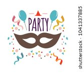 party mask vector template... | Shutterstock .eps vector #1041337885