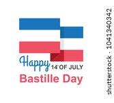 bastille day in france vector... | Shutterstock .eps vector #1041340342