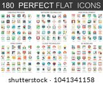180 vector complex flat icons... | Shutterstock .eps vector #1041341158